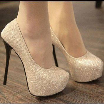 Glittery Evening Pumps