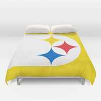 Steel City Duvet Cover by Shipwreck Moon Designs