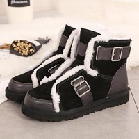 UGG new winter ladies snow boots fashion personalized motorcycle boots.