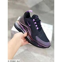 Air Max 720 NIKE Fashion Women Men Air Cushion Sport Running Shoes Sneakers Black&Purple