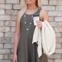 Olive Fall In Love Dress