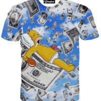 Money Dreaming Homer Tee