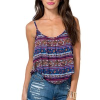 Cropped Paisley Print Cami
