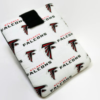 Hand Crafted Tablet Case From Licensed Atlanta Falcons  Football Fabric / Case for: iPad Mini,Kindle Fire HD 7,Samsung Galaxy 7, Nook 7