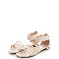Stone Ankle Strap Sandals