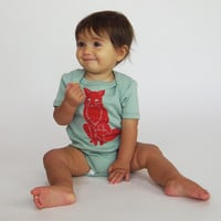 Winter Fox Organic Bodysuit in Mint