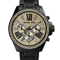 Wren Black IP Stainless Steel Glitz Chronograph Bracelet Watch