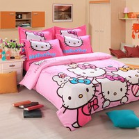 Hello Kitty Kids Bedding Set, Include Duvet Cover