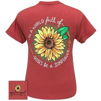 Girlie Girl Originals Preppy Be A Sunflower T-Shirt