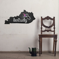 Kentucky Chalkboard State wall decal