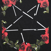 The Reason Roses & Pentagram Tee - Urban Outfitters