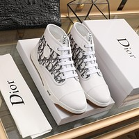 DIOR  Men Fashion Boots fashionable Casual leather Breathable Sneakers Running Shoes01