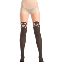 Be Wicked Sheer Skull and Crossbone Tights