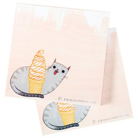 Ice Cream Cat Notepad
