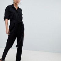 ASOS DESIGN washed cotton boilersuit at asos.com