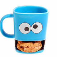 Monster Cookie Dunk Mug. Ideal Xmas Gift Cookies fit in his mouth Not Elmo :)