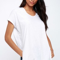 Shoreview White Oversized Tee