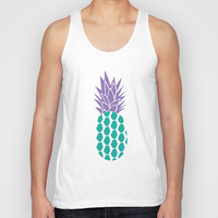 Pineapples  Unisex Tank Top by Ashley Hillman