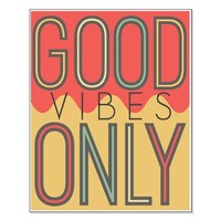 Good Vibes Only Color Small Poster> Good Vibes Only Color> ...