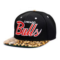 Leopard Cheetah Animal Print Chicago Bulls Snap Back
