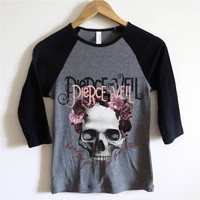 Pierce the Veil Skull/Roses Baseball Tee