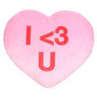 I Heart You Candy Heart Pillow
