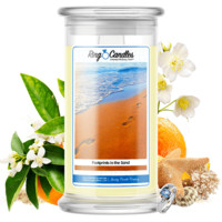 Footprints In The Sand Ring Candle