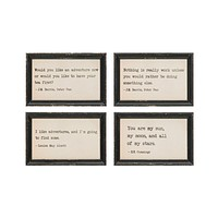More Quotations - Wood Wall Art - 9-in