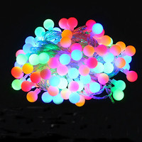 Novelty Outdoor lighting LED Ball string lamps 10m 100leds Christmas Lights fairy wedding garden pendant garland decoration