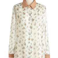 Forever Afternoon Top | Mod Retro Vintage Long Sleeve Shirts | ModCloth.com