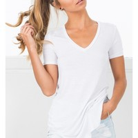 Just A Girl tee in white