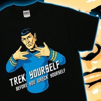 Dr. Spok Vulcan Salute Tee Star Trek Yourself TV Movie Parody T-Shirt S-4XL (Size: S, Color: Multicolor) = 1958409220
