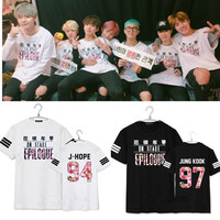 kpop BTS Bangtan Boys part Mood for Love Young Forever 2016 Album short sleeve T-shirt k-pop Casual summer T shirt Unisex Tshirt