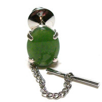 "Jade, jade tie tack, mens tie tack, gifts for men, green, ""Smashing"""