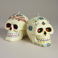 Los Muertos Skull Candles, Set of 2 | World Market