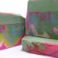 Butt Naked Tie Dye (Butt naked in bed fragrance) Cold Process Soap, Vegan! Homemade!