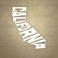 California Vinyl Decal Sticker for Car Truck Auto. Word Art . US State Pride.