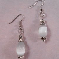 White and Silver Drops from Elohi Jewelry