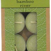 Candle-lite New Leaf  8-Pack Tea Lights with Soy Wax, Bamboo River