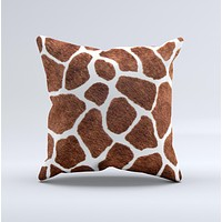 Real Giraffe Animal Print Ink-Fuzed Decorative Throw Pillow