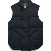 Military Down Vest in Navy