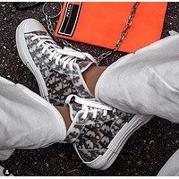 Dior Hot Fashion Couple Printed Letters Translucent Casual Sneakers high help