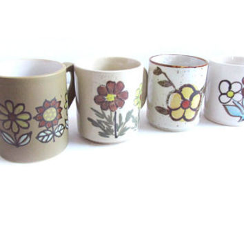 Vintage Mod Flower Power Mug Cup Collection