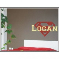Alphabet Garden Designs Personalized Superman Wall Decal - child021 - All Wall Art - Wall Art & Coverings - Decor