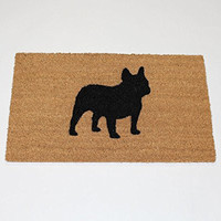 "French Bulldog Silhouette Doormat (18""x30"")"
