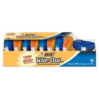 BIC White Out Correction Tape - 10ct
