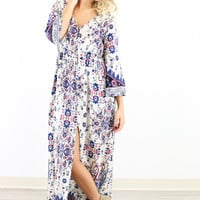 Ivory Closet Floral Blooms Maxi Dress
