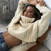 Stacey Cable Knit Turtle Neck Sweater