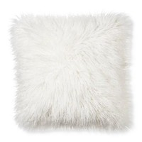 Mongolian Faux Fur Pillow 18""