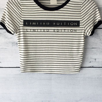 Limited Edition Striped Crop Top